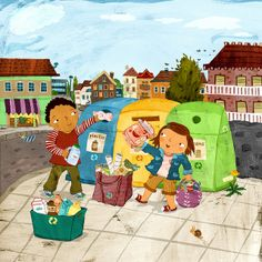 Children's Illustrator, Christiane Engel is represented by Good Illustration… Learning Through Play, Kids Learning, Drawing For Kids, Art For Kids, Organisation Administrative, Exam Pictures, Recycling, Picture Composition, Hidden Pictures