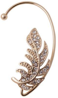 Bijou Brigitte ear cuff - Golden Leaf. Love this.