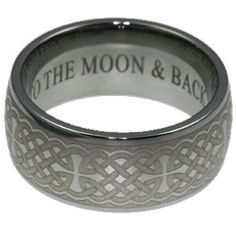 To The Moon And Back Wedding Band Engraving Google Search