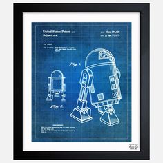 R2D2 Robot 1979 Patent poster by Oliver Gal