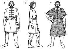 Medieval Russian Clothing | Medieval Russian Clothing / Мал. 2. Російський ... Rus riding coat.  12th century?