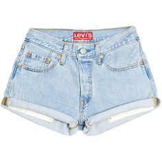 Levis Shorts High Waisted Cutoffs Denim Cheeky All Sizes Xs S M L Xl... (25 AUD) ❤ liked on Polyvore featuring shorts, bottoms, jeans, high rise denim shorts, high waisted denim shorts, denim cut-off shorts, high waisted shorts and destroyed denim shorts