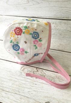 Handmade Bonnet With Vintage Embroidery | TheRoadLessRaveled on Etsy