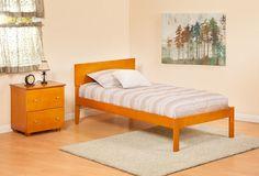 Urban Orlando Wood Platform Bed - Twin Extra Long Size (XL)