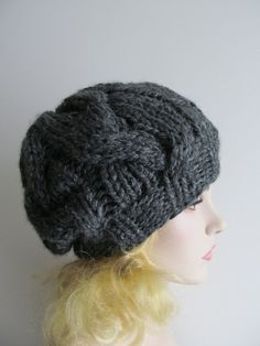 PDF+Instant+Download+Knitting+Pattern+Cabled+Chunky+by+Lacywork,+$3.50