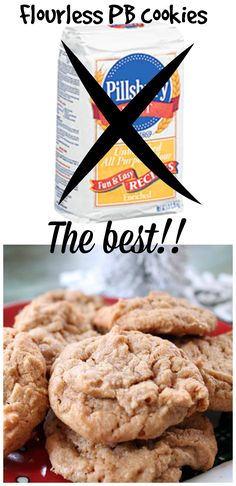 These #peanutbutter cookies are the best you will ever have.  NO flour!