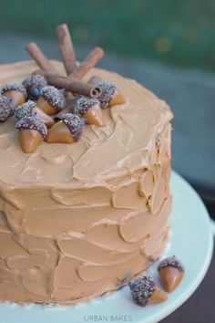 Spiced Cake with Dulce de Leche Frosting