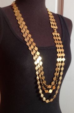 Multi-tiered Gold Coin Necklace by Liz Clairborne Gold Jewelry For Sale, Gold Earrings For Women, Mens Gold Jewelry, Bridal Jewelry, Arabic Jewelry, Fancy Jewellery, Gold Jewellery Design, Kerala Jewellery, Gold Pendent