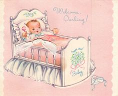 """""""New Baby"""" Card 1956"""