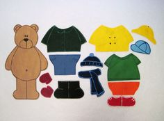 weather bear felt story   page has many other story's
