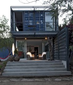 Container House - Shipping container homes utilize the leftover steel boxes used in oversea transportation. Check out the best design ideas here. - Who Else Wants Simple Step-By-Step Plans To Design And Build A Container Home From Scratch? Building A Container Home, Container Buildings, Container Architecture, Architecture Design, Container Houses, Cargo Container, Container Cabin, Container Store, Sustainable Architecture