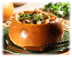 Soup Bowls. Hollow them out and serve with your favorite, soup. stew, or chili.