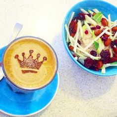 Instagram: @thecoffeechickee A Quinoa Bircher breakfast fit for a coffee queen  at @tiger_mottle