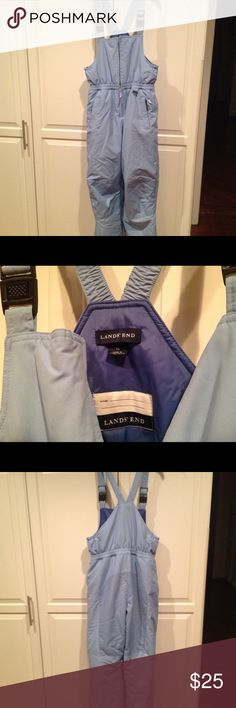 Lands End Girls Ski Bibs Powder Blue excellent condition. Cleaned. Non smoking home. Lands' End Other