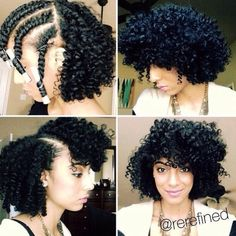Check out @rerefined's fab flat twist out!