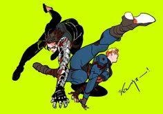 Bucky and Steve Marvel Funny, Marvel Art, Marvel Avengers, Bucky Barnes Fanart, Bucky And Steve, Dc Comics, Stucky, American Comics, Slayer Anime