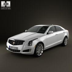 Cadillac Ats 2013 3Ds - 3D Model