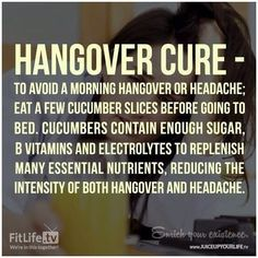 Hangover cure...wish I would have seen this last night lol
