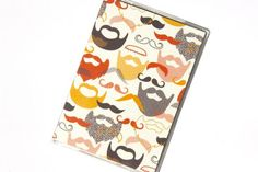 PASSPORT COVER  Mod Beards and Mustaches by TwoPolkaDots on Etsy