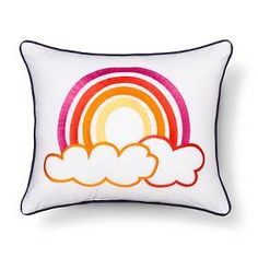 "Sabrina Soto™ Lucy Rainbow Decorative Pillow 14""X17"" - Multicolor : Target"