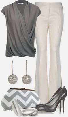 I like the wide leg trouser and would wear to work.I dont like the clutch