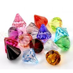 Wholesale Acrylic Charms Teardrop At Random Faceted Crystal Imitation X 20 PCs from China Supplier Acrylic Charms, Acrylic Beads, Faceted Crystal, Pendants, Charmed, Crystals, China, Hang Tags, Crystal