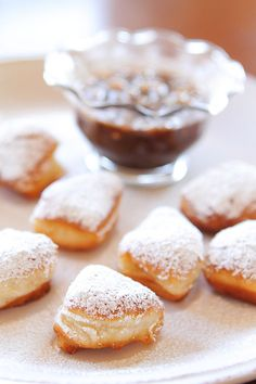 Biscuit Beignets with Praline Sauce @Amanda (Kevin and Amanda)