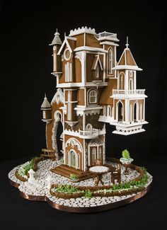 Omni Grove Park Inn Announces Winners of the 2016 National Gingerbread House Competition–Amazing Gingerbread Houses Gingerbread House Designs, Gingerbread Village, Gingerbread Decorations, Christmas Gingerbread House, Christmas Decorations, Gingerbread Cookies, Christmas Desserts, Christmas Baking, All Things Christmas