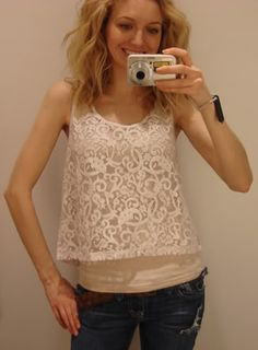 lace tank...I love the look though would need a bigger size lol