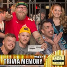 Come on out and join the crowd.  Do you have what it takes to come in 1st place?  Sign up today and prove it http://davincisdelivers.com/trivia-signup/