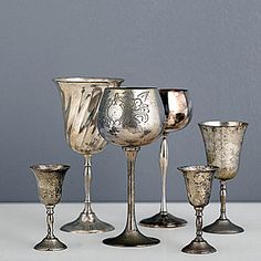 Before: metal goblets - Fun salvage makeovers - Sunset