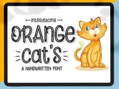 Orange Cats is a fun, bouncy handwritten font bursting with handwritten charm and personality! It is a perfect choice for crafters with cutting machines, as it is ultra smooth for optimal cutting performance. Free Monogram, Monogram Fonts, Monogram Letters, Bold Fonts, New Fonts, Handwritten Fonts, Calligraphy Fonts, Script Fonts, Handwriting Alphabet