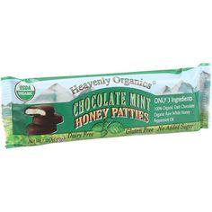 Heavenly Organics Honey Patties - Chocolate Mint - 1.2 Oz - Case Of 16