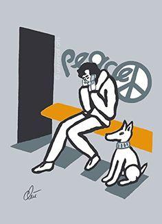 Jacqueline Ditt - Peace on Grey Font (Frieden auf Grauem Grund) - universal arts Galerie Studio - Original Grafik Druck limitiert handsigniert und nummeriert - Alurahmen weiss universal arts Galerie Studio edition http://www.amazon.de/dp/B00QXOZJ5S/ref=cm_sw_r_pi_dp_WaJuwb00X6AF6