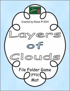 Layers of Clouds FFG Mat from The-Schoolhouse on TeachersNotebook.com