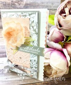 Peony Garden and How to create a 3D Flower. - Stamping Bees Peonies Garden, Embossing Folder, Soft Colors, Peony, I Card, Bees, Stamping, Decorative Boxes, Delicate