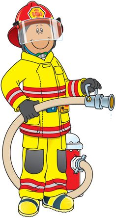 Free Fireman Clip Art of Fireman cute firefighter clipart free clipart images image for your personal projects, presentations or web designs. Community Helpers Worksheets, Community Helpers Preschool, Firefighter Clipart, People Who Help Us, Community Workers, Carson Dellosa, Fire Prevention, Cute Clipart, Clipart Images
