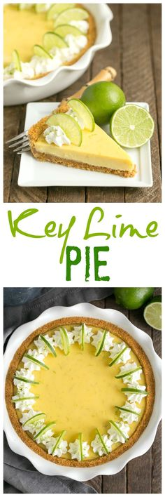 Key Lime Pie with Graham Cracker Crust | A classic recipe with a zesty punch of citrus! @lizzydo