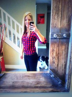 Fun red checked #washablefashion #ootd from @mosertamara. #fashion #style