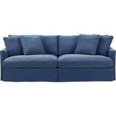 Crate & Barrel Denim Sofa ... love denim.