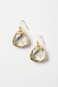 Last Snow Drops crystal earrings | anthropologie