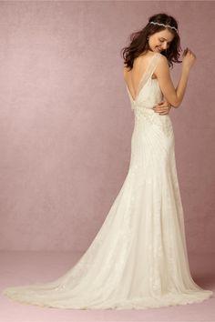 BHLDN Hester Gown in  Bride Wedding Dresses Back Detail at BHLDN
