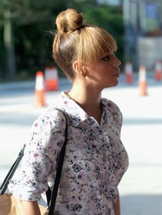 40 Simple And Stylish Outfits With Top Bun - Fashion 2016