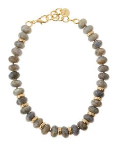 Chunky Labradorite Bead Necklace by NEST Jewelry at Neiman Marcus.