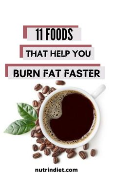 Coffee, it also has a property to speed up the metabolism due to the caffeine that is present in it. Caffeine can accelerate people's metabolism by 3 to 11%. And it, specifically, can increase fat burning by up to 10% in some obese people and by 29% for people who are overweight. #BurnFat #LoseWeight