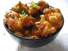 Kung Pao Chicken Recipe  Serves 4  Ingredients: 2 lb. Boneless chicken  3 tablespoon oyster      sauce  3 tablespoon cooking      oil  6 sm...