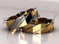Ouro amarelo 18k / 750 Peso aproximado do par 17 gramas diamantes lapidação brilhante Acabamento polido