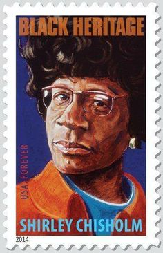 An outspoken politician who shattered barriers of race and gender in the & Shirley Chisholm was the first African-American woman ever elected to Congress. Her stamp is the in the popular Black Heritage series. Black History Facts, Black History Month, Shirley Chisholm, African Diaspora, African American History, Women In History, Black Is Beautiful, Postage Stamps, Stamp Collecting