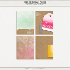 4 free journal cards created by the sweet caroline studio CT.  ***Scroll down for your download***