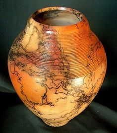 SERRATED NECK PITFIRE HORSEHAIR VASE ROB DREXEL by rob drexel on ARTwanted